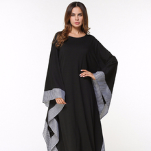 Hot koop gratis size plaid trim zoom stijlvolle <span class=keywords><strong>abaya</strong></span> <span class=keywords><strong>ontwerpen</strong></span> moslim vrouwen mode losse <span class=keywords><strong>abaya</strong></span>
