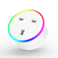 UK smart plug 100-240V 13A rated RGB wireless plug socket outlet timer Tuya smart life App wifi plug UK standard type C