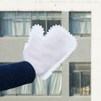 Viscose And Disposable Non-woven Washing Gloves