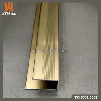 Anodized Bronze Color Aluminum U Channel Laminate Floor Trim Buy