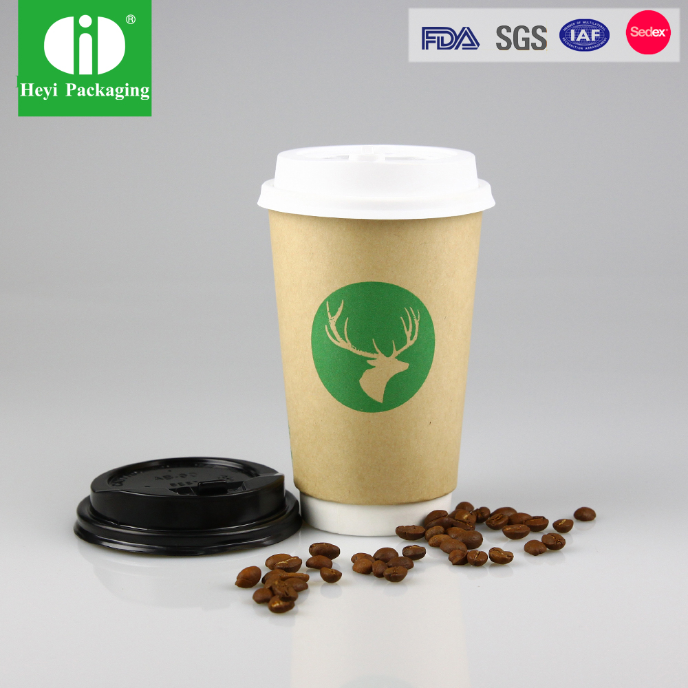Ebelee Design Your Own Ribbed Paper Coffee Cup With Logo