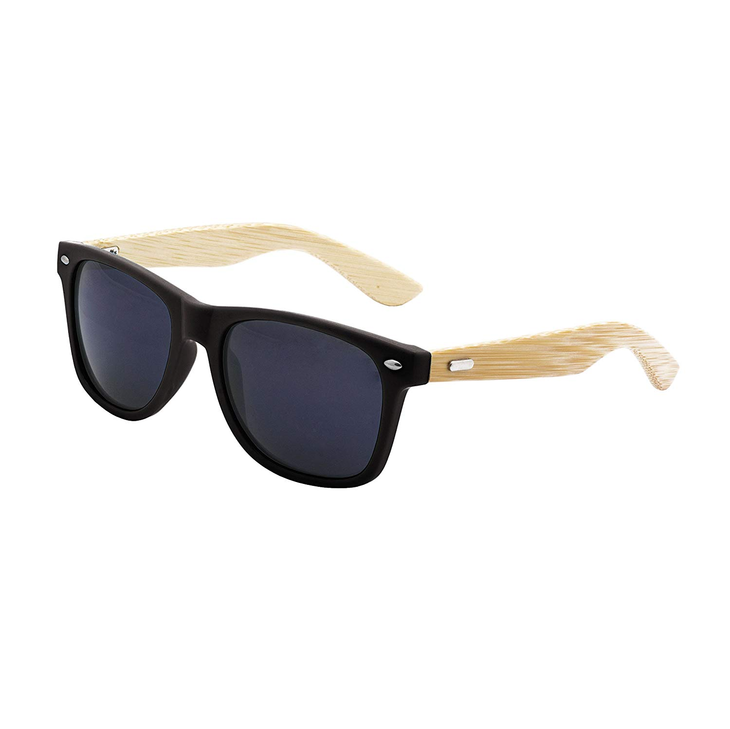 9a52e30c8d8 Buy LogoLenses Mens Bamboo Wood Arms Classic Sunglasses in Cheap ...