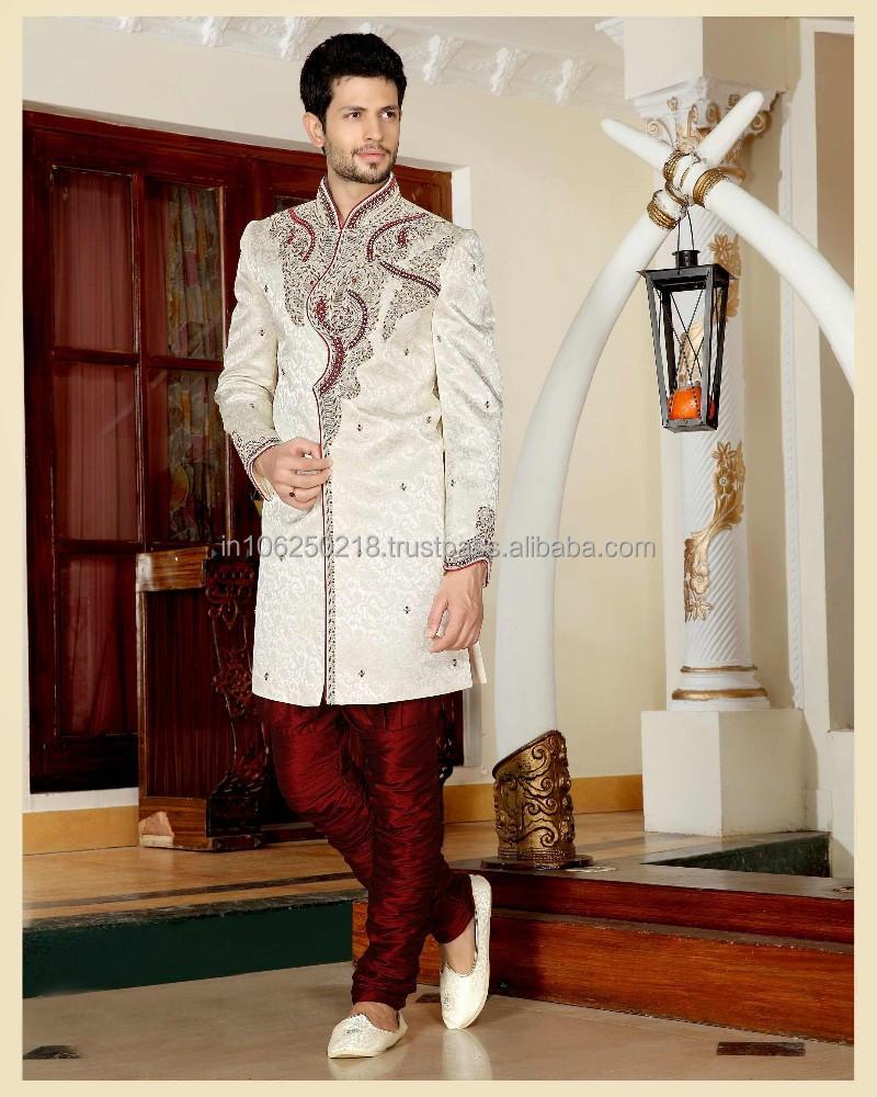 Pakistani Mens Sherwani Black Designs For Men Embroidered Designer R3358