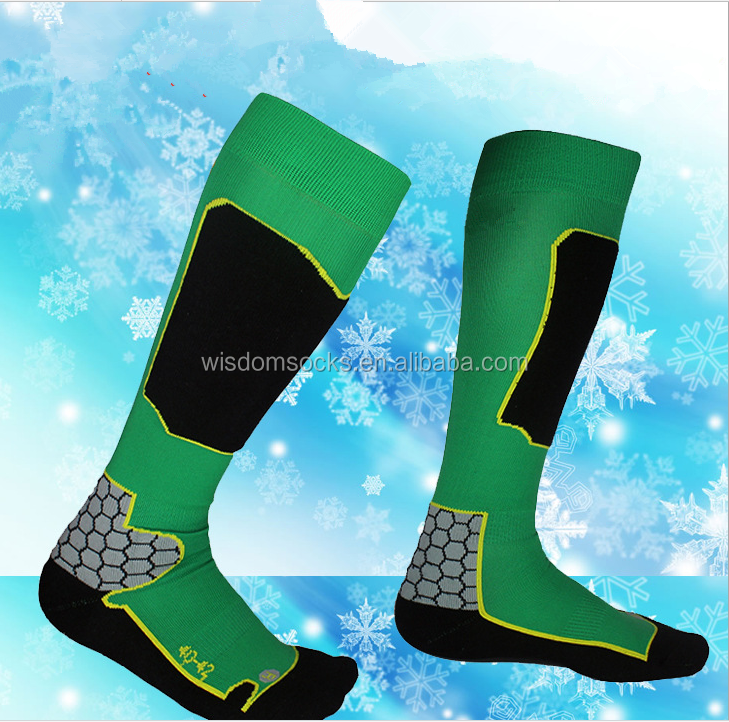 custom knee high terry cushion outdoor winter wool hiking ski socks