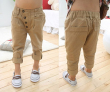 2016 2 6Y boys pants Child Harem pants Baby Boy Khaki Straight Pants Trousers Kids Fashion