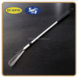 61cm stainless steel metal handle flexible extended shoe horn