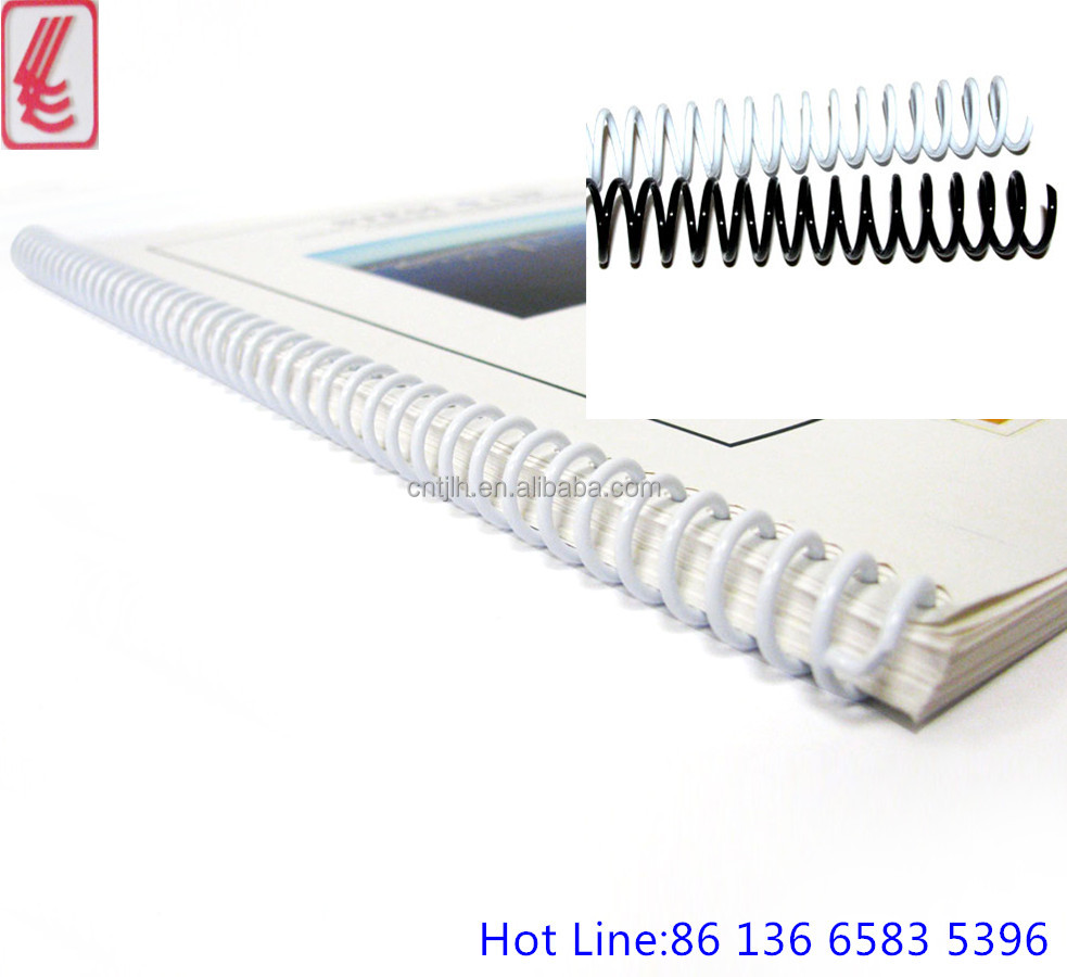 Plastic spiral coil binding wire for notebooks binding and spiral binding, different colors plastic spiral meet your standards