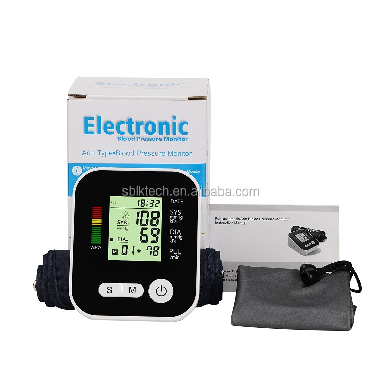 자동 위 암 Accurate 외래 Blood Pressure Monitor 와 Digital LCD 및 Talking 음성