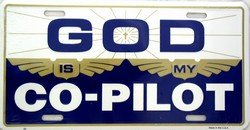 God Is My Co-Pilot License Plate