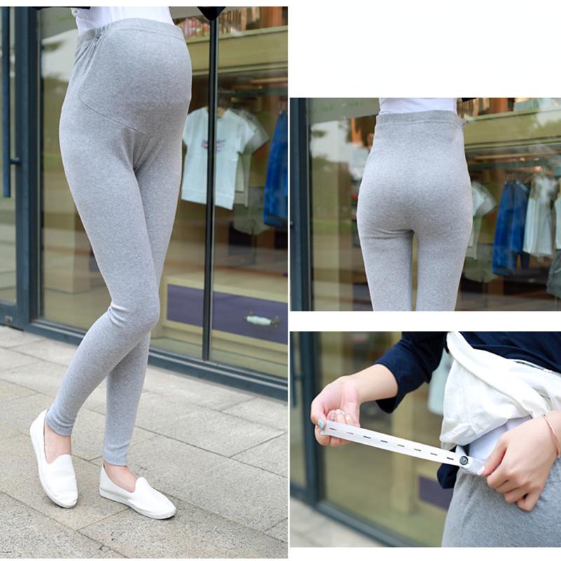 e494fc348ff9f Spring Autumn Cotton Maternity Leggings Pants for pregnant women High Waist pregnancy  leggings maternity clothing