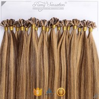 Best Quality European Hair Double Drawn U tip Hair Extensions Cheap Color of 4P27