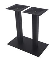 Black Texture Powder Square Metal Table Base