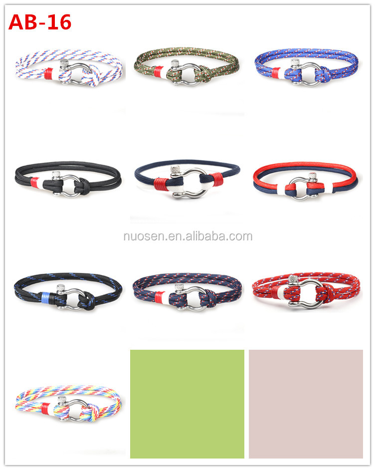 High Quality Custom Engraved Logo Mens Stainless Steel Anchor Bracelets nautical rope Bracelet