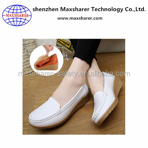 genuine leather shoes women ladies comfort daily wear wholesale white nurse shoe