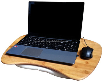 Natural Bamboo Laptop Desk With Cushion Buy Led Desk Board Computer Bed Tray Lap Board For Laptop Product On Alibaba Com