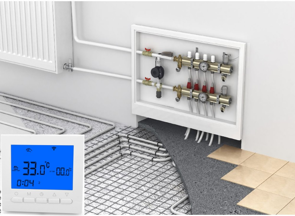 Electric Temperature Controller For Controlling Water Radiator Valve Or Heating Thermal Actuator