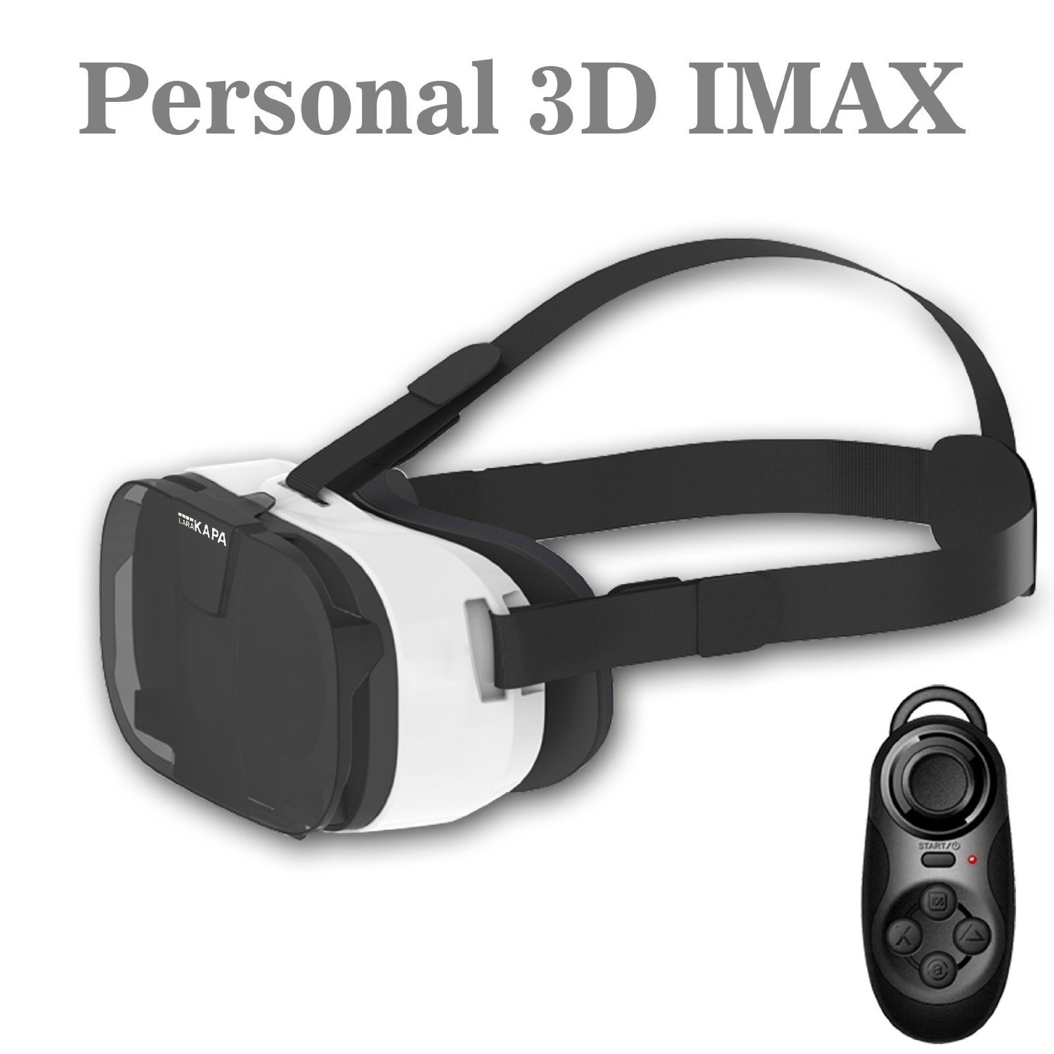 """VR Glasses Headset,LARAKAPA 3D VR Virtual Reality Headset 3D Glasses Fit for Samsung, LG, Google , HTC, Huawei and more with 4.7""""- 6.0"""" Smart Phones"""