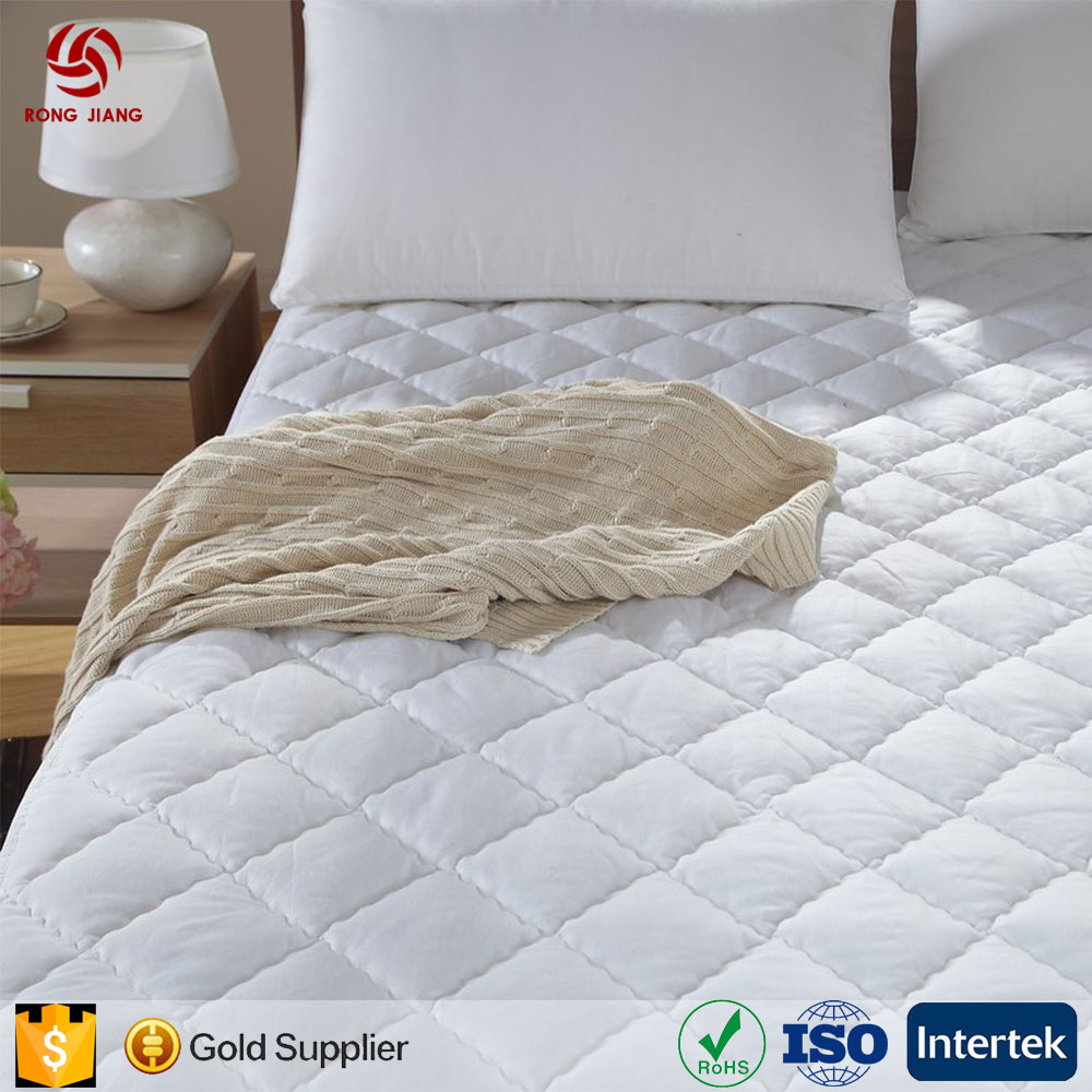 Hotel washable cotton bed pad, anti-skid mattress pad