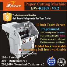 BOWAY Producing R5209 hydraulic programmed guillotine paper cutting knives