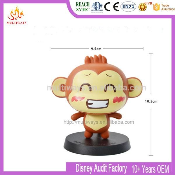 Süper Sevimli Vinil Maymun Bobble Kafa Koleksiyonu Oyuncak Kafa