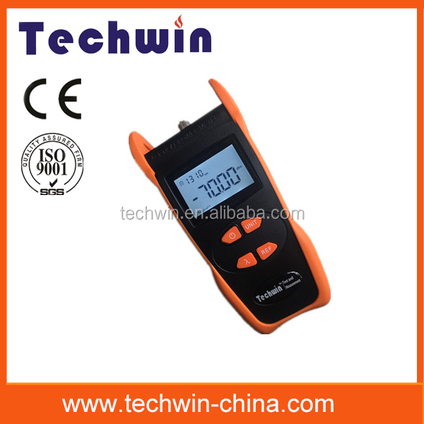Palm power meter TW3208E used for optical power mesurement and relative loss measurement in fiber
