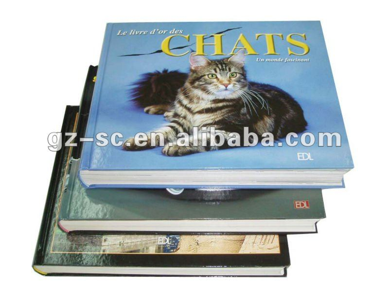 Hard cover book printing with CMYK offset printing