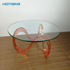 Modern Elegant Wave Acrylic/Glass Top Coffee Table