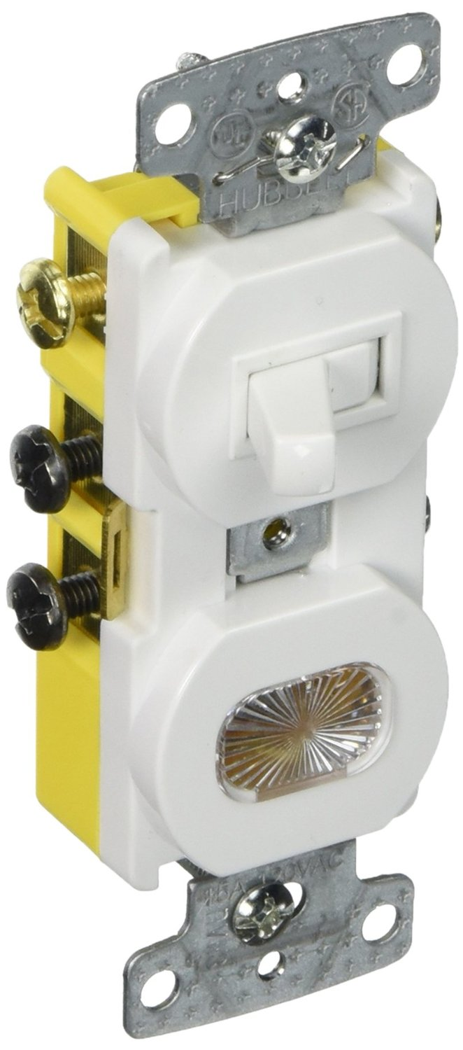 Cheap Neon Transformer Wiring Find Deals On A Light Switch Get Quotations Hubbell Systems Rc309w Tradeselect Three Way Combination Toggle With Pilot Clear Lens Amber