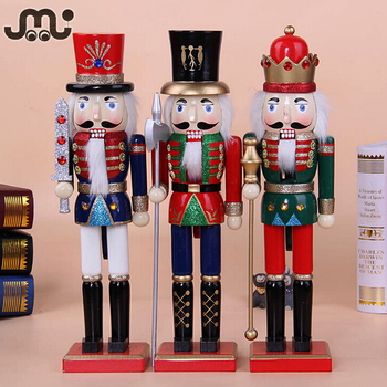 38cm wooden soldier nutcrackerchristmas decoration soldier nutcracker - Christmas Decorations Wooden Soldiers