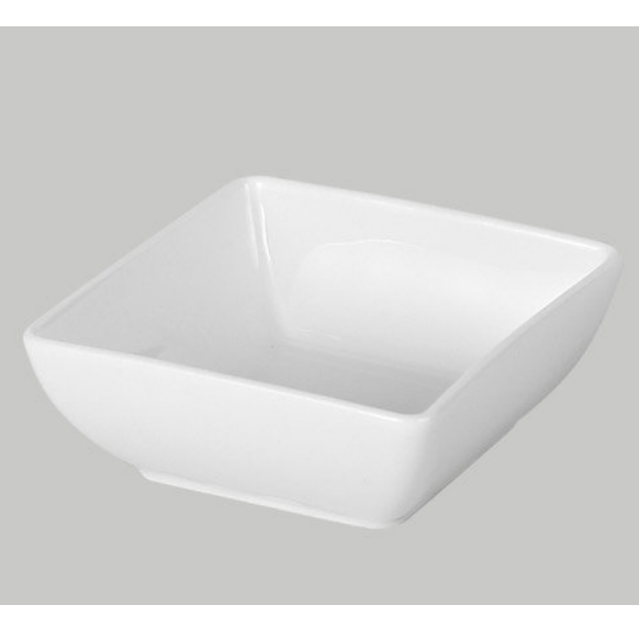 wholesale dinnerware square white ceramic saucer dishes