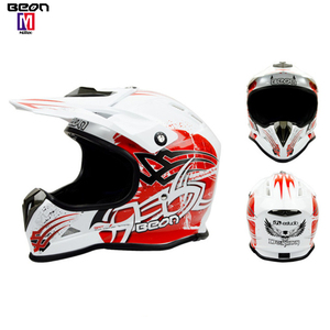 Light weight red mountain dirt bike off road motocross racing helmet full face motorcycle