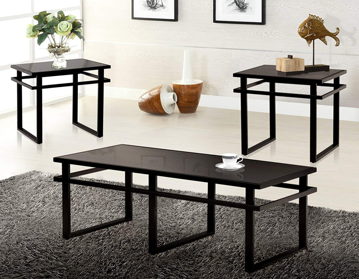 Picture of: Cheap Black Glass Coffee Table Set Find Black Glass Coffee Table Set Deals On Line At Alibaba Com