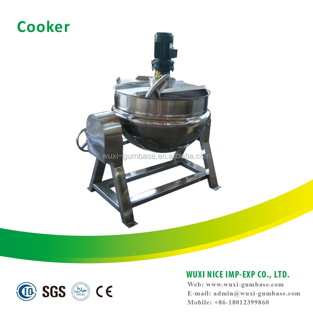 Double Jacketed industrial cooking pot for syrup mixing