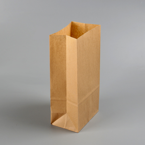 Custom made take away fast food paper kraft bag brown
