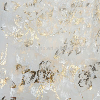 organza gold foil fabric