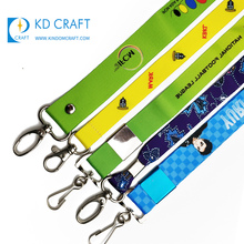 Made in china goedkope custom logo warmteoverdracht gedrukt neck strap para sublimatie lanyard geen minimum order