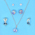 Wholesale Silver Plated Pearl Jewelry Set Women Fashion Crystal Chain Pendant Necklace
