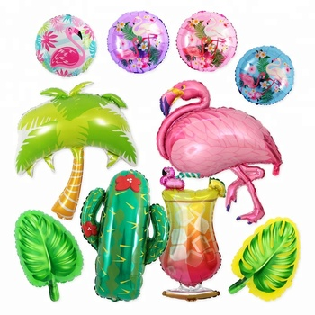 Flamingo Coconut Tree Colorful Hawaii Party Balloons Happy Birthday Summer Party Decoration Inflatable Foil Balloon Buy Hawaii Theme Party Balloon