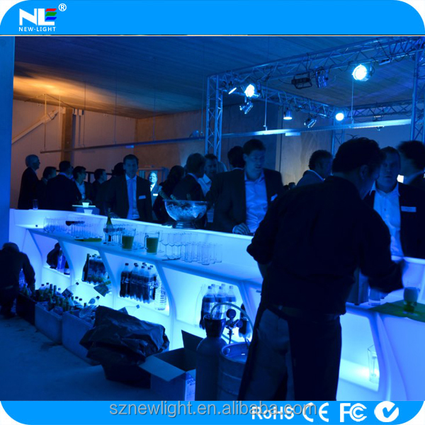 Wireless control via PHONE APP!!! LED bar table furniture ,waterproof flash light bar funiture / LED furniture .