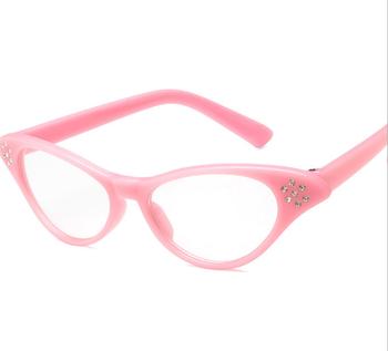 3ca45c924569 2018 china factory lady pink cat eye diamond party sunglasses rhinestone clear  lens glasses