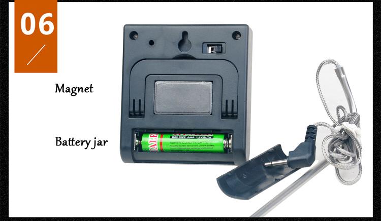 Термометр цифровой термодатчик для пищи Кулинария нержавеющая сталь вилка для барбекю мясо индейки говядина Кухня термометр