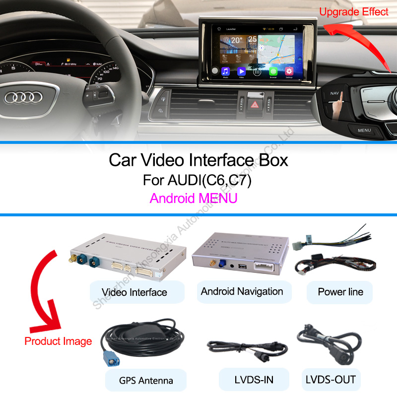 car gps video interface for audi a1 q3 a4 a5 q5 a6 q7 a8 andriod system gps navigation box in. Black Bedroom Furniture Sets. Home Design Ideas