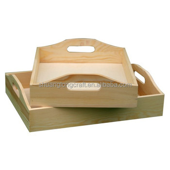 wooden cutlery tray serving trays lap tray wooden tray with handles