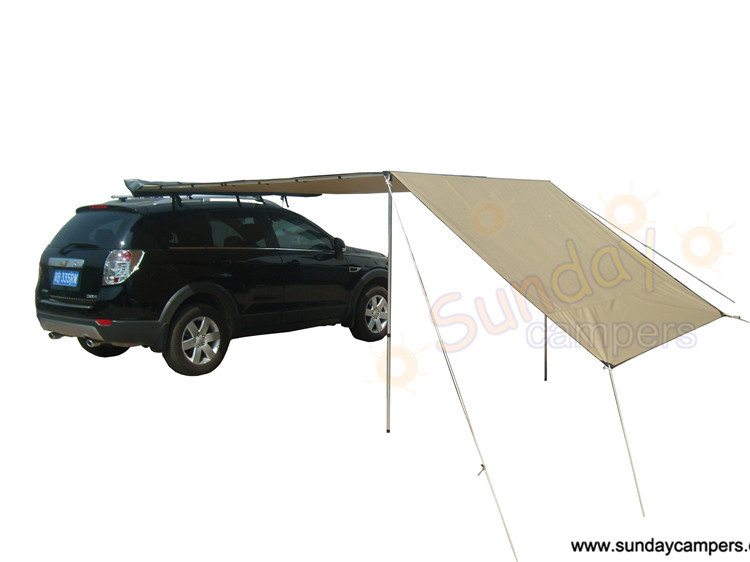 Durable Waterproof Car Roof Tent Awning For Camping