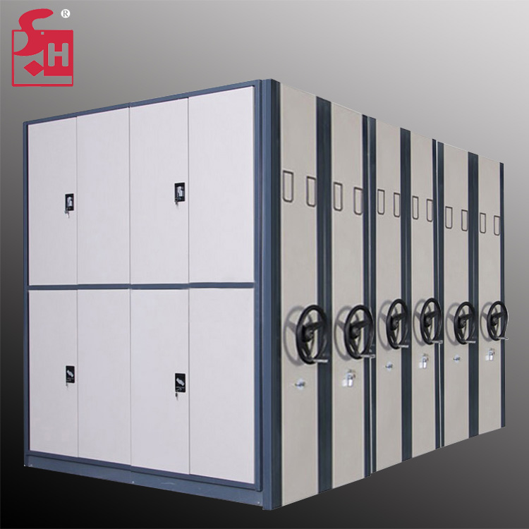 Library in university compact movable rack shelving movable shelves