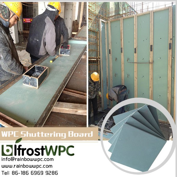 wpc plastic concrete wall formworks, reusable plastic formwork for concrete, concrete wall forming system