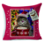 Christmas Colorful Oil Painting Cute Pets Cotton Linen Woven Square Cushion Cover Pillowcase For Home