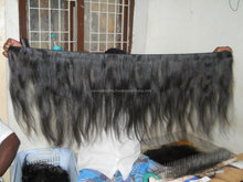 curly machine weft extensions