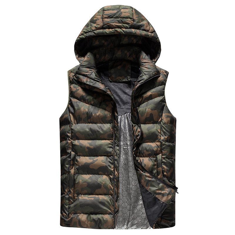 봄 Men padded vest warm 패션 민소매 jacket 와 hoody