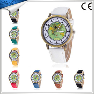 Free Shipping Causal Fashion Map aircraft Jean Wrist Watch Men Women Watches Wholesale Price LW058